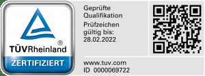 TÜV-Zertifikat Projektleiter für die Sanierung von Schimmelpilzschäden